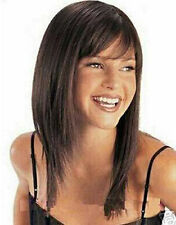 Hot Sell! Sexy medium length brown straight wig wigs    g103