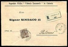 1907 - Raccomandata con cent.40 Floreale - Sassone n.74 - uso singolo