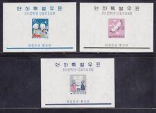 Korea Scott #'s 298a - 300a sheets set VF never hinged mint cv $ 90 ! see pic !