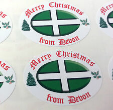 36 Merry Christmas From Devon Envelope and Greetings Card seal stickers (106)