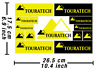 Touratech Box Decals Stickers Heavy Duty Graphics Autocollant Aufkleber /615