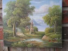 "Oil Painting-Castle Landscape New/Unused 8""x10"""