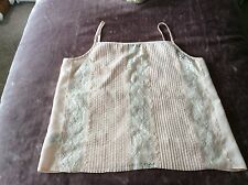MARKS & SPENCER PEACH LACE CAMISOLE. (Size 14). Excellent Condition.