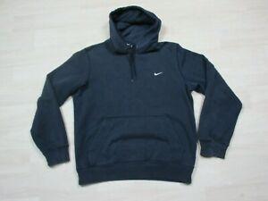 Nike Men's Logo Mini Swoosh Essential Pullover Sweatshirt Hoodie Size (M) Faded