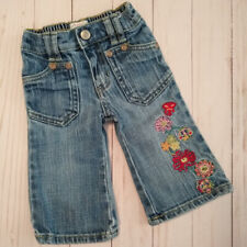 Old Navy Girls Flower Blue Jeans Size 6-12 Months