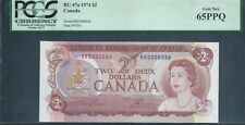 CANADA, Bank of Canada $2 1974 BC-47a Low No. 36 PCGS 65 EPQ Gem New