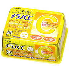 Rohto Japan Melano CC After Sun Repair & Soothing Whitening Mask (20 sheets)