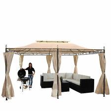 Pergola MECINA Garten Pavillon 4cm-stahl-gestell mit Seitenwand 4x3m