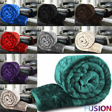 Luxury Faux Fur Mink Throw Soft Warm Fleece Blanket Double King Sofa Bed Xmas