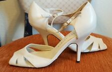 *NEW*Martinez Valero shoes beige strap peep toe Size 8