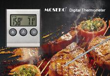 Termómetro de Sonda con Temporizador De Agua Leche Carne Barbacoa herramientas de cocina de temperatura del horno