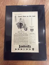 LAMBRETTA Vintage Original 1956 LD LDA LDB D Advert INNOCENTI SCOOTER MODS