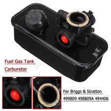 Carburetor & Fuel Gas Tank For Briggs & Stratton mower engines 498809A 494406 AU