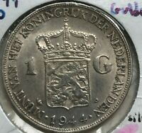 1944 P Netherlands Gulden - Acorn Privy Mark - Minted in Philadelphia