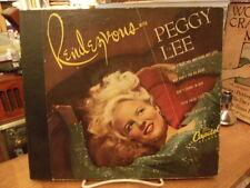 Peggy Lee Rendezvous 78 rpm record set, Capitol Records CC 72