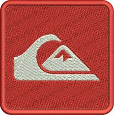 Parche bordado QUIKSILVER logo embroidered Surfer style iron patch