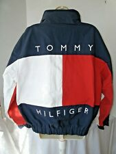 Vintage Tommy Hilfiger Spell-Out Flag Reversible Sailing Jacket Size M Blue Rare