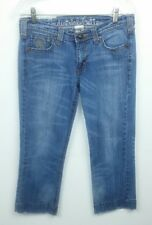 Industrial Cotton Juniors Size 9 Jean Capris Embellished Cropped Blue Stretch