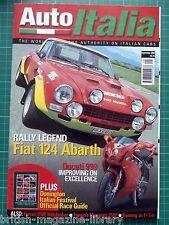 Auto Italia 73 Fiat 124 Abarth Ducati 999 Ferrari 212E Maser 250F 156 JTS Edonis