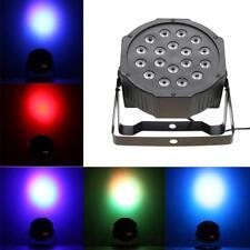 18W 7 Color LED RGB Stage PAR Light Sound Voice DMX512 DJ Party Disco Bar Lights