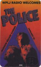 POLICE 1980-81 Tour Radio Promo Backstage Pass WPLJ Madison Square Garden
