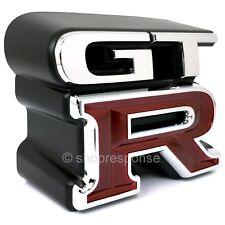 JDM Nissan 99-02 Skyline GT-R R34 Front Grill GTR Emblem Badge 62896-AA400