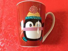 CHRISTMAS PENGUIN IN SCARF & BOBBLE HAT MUG  NEW  FREE UK P&P