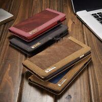 LG G5 Leder Synthetisch Etui Tasche Flip Case Jeans Cover Hülle Back + Folien