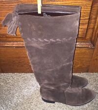 A.N.A Gorgeous Chocolate Brown Suede Knee High Boots, Size 8.5 M