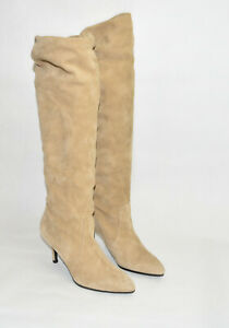 New! Stuart Weitzman Lafayette Slouch Boot Mojave Tan Suede  Size 6.5 M