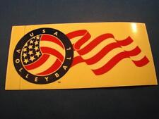 "Usa Volleyball Us Flag Window Sticker 3"" x 6"" Free Shipping"