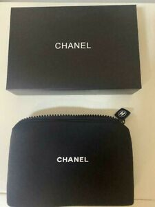 CHANEL Novelty Black Pouch cosmetic