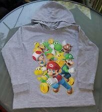 Nintendo Super Mario Brothers Long Sleeve Graphic Shirt Boys Youth large 7 GUC