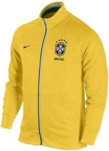 Nike Men's Yellow Brazil 2012/13 Core Trainer Full Zip Jacket Size 2XL