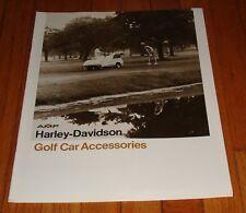 Original 1980 Harley Davidson Golf Car Accessories Sales Brochure