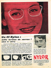 PUBLICITE ADVERTISING 094  1958  NYLOR  fil lunettes optique