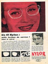 PUBLICITE ADVERTISING 094  1958  NYLOR  fil lunettes optique