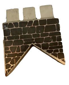 Miniature Dollhouse 1:12 Hand Made Sold Wood Brick 45 Degree Chimney