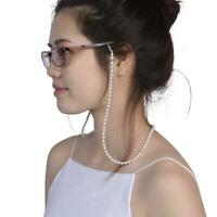 Pearl Beaded Eyeglass Spectacle Reading Glasses Chain Holder Neck Cord Strap BG