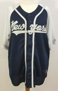 GYM: LA Sports White & Navy New York Baseball Top XL WITH TAGS