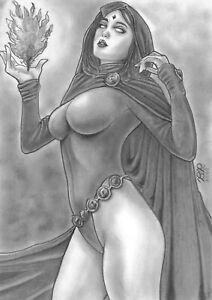 "🆕 Lady Death (09""x12"") original comic art 1/1 by Bete Rodrigues - Cosmotrama"