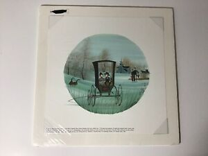 """P. Buckley Moss Print """"Timeless Treasures"""" New In Original Package Amish Buggy"""