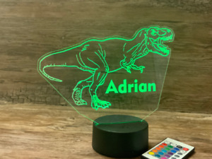 Dinosaur Night Light Personalized for Free with Remote Control and Free Shipping