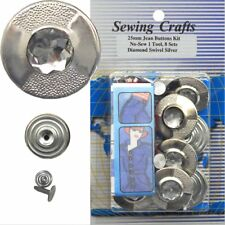 25 mm No-Sew Replacement Jean Tack Buttons w/Tool (25P3)  6 CT.