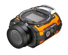 NEW RICOH Waterproof Action Camera WG-M1 Orange Free Shipping With Tracking