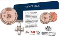 2017 Legends of the Anzacs George Cross Copper 25 Cent Coin Medals of Honour