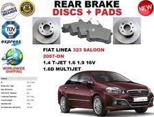 Para Fiat Linea 323 Saloon 1.4 1.6 1.9 1.6D Trasero Juego de Discos Freno +