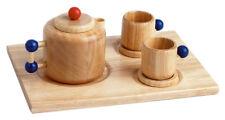 Kaffeekanne + Tassen aus Holz, Küchenzubehör aus Holz