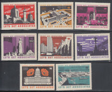 "TIDEWATER OIL CO ""LETS GET ASSOCIATED"" GOLDEN GATE EXPO 1939-40"" POSTER STAMPS"