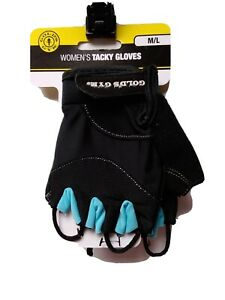 Gold's Gym Womens Tacky Workout Gloves Medium/Large Black and Blue